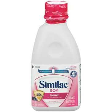 Similac Sensitive Isomil Soy Ready to Feed 32oz