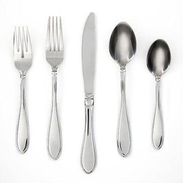 Cambridge Evanston 45-Piece Flatware Set W/ Caddy