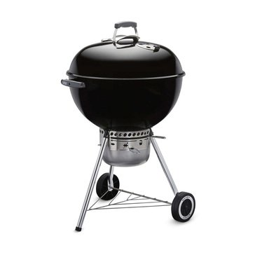 "WEBER CHARCOAL GRILL 22"" ORIGINAL KETTLE PREMIUM - BLACK"