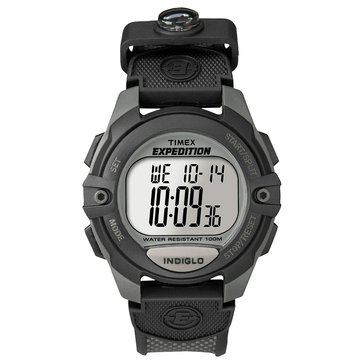 Timex Men's Expedition Digital Chronograph Charcoal and Black Watch