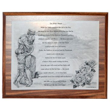 John Wills Studios Inc. USN The Wife's Watch Plaque