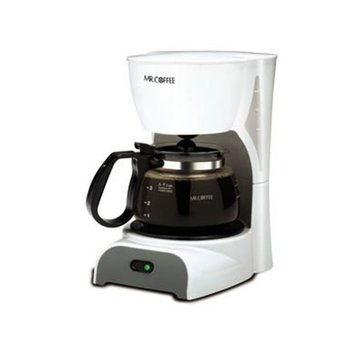 Mr. Coffee Simple Brew 4-Cup Switch Coffee Maker, White (DR4-NP)