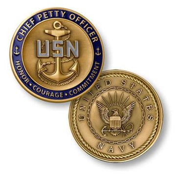 USN Chief Petty Officer Round Coin
