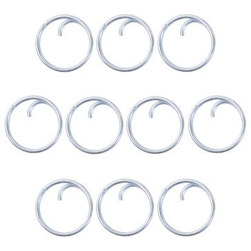 Button Ring Toggels Metal 10 pack