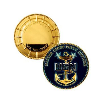 USN Master Chief Petty Officer Coin