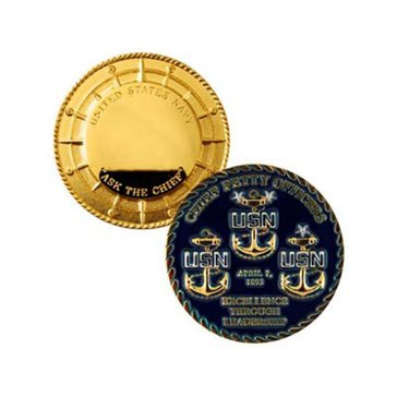 USN Chief Petty Officer Coin