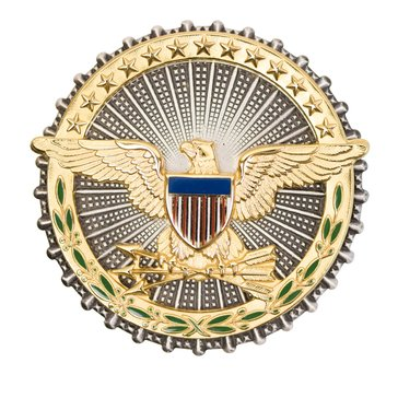 ID Badge Full Size SECRETARY OF DEFENSE Oxidized Silver/Gold
