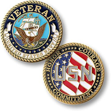 Northwest Territorial Mint USN Navy Veteran Coin
