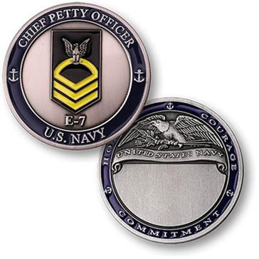 USN Navy Rank E7 CPO Coin