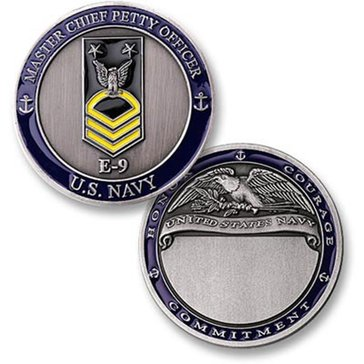 USN Navy Rank E9 Master CPO Coin