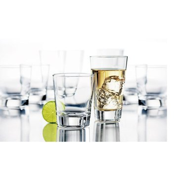 Libbey Geo 16-Piece Beverage Set