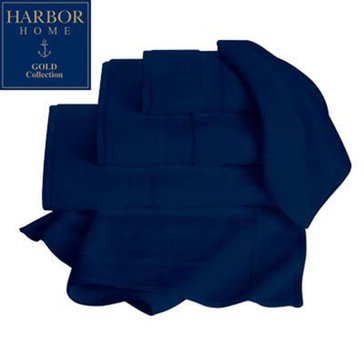 Gold Collection Hand Towel, Navy