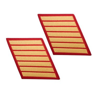 USMC Women's Service Stripe Set 7 Gold on Red
