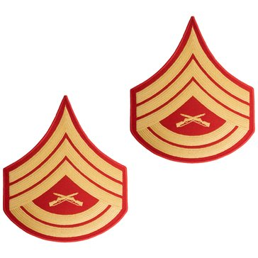 USMC Men's Chevron Gold on Red Evening Dress GYSGT Merrowed