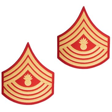 USMC Men's Chevron Gold on Red Evening Dress MGYSGT Merrowed