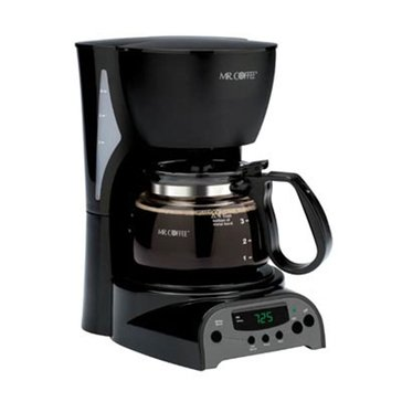 Mr. Coffee Simple Brew 4-Cup Programmable Coffee Maker, Black (DRX5-RB)