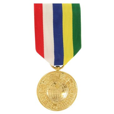 Medal Large Anodized Intr American Defense