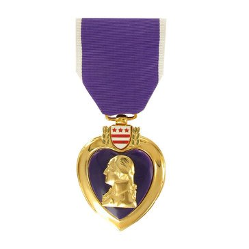 Medal Large Anodized Purple Heart