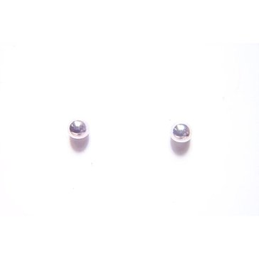10K White Gold 5mm Ball Stud Earrings