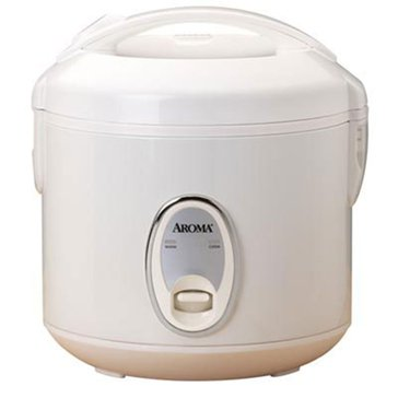 Aroma Cool-Touch Rice Cooker & Food Steamer, 8-Cup (ARC-914S)