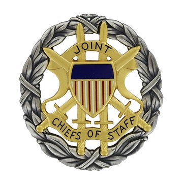 ID Badge Full Size JOINT CHIEF OF STAFF Oxidized Silver (USN)