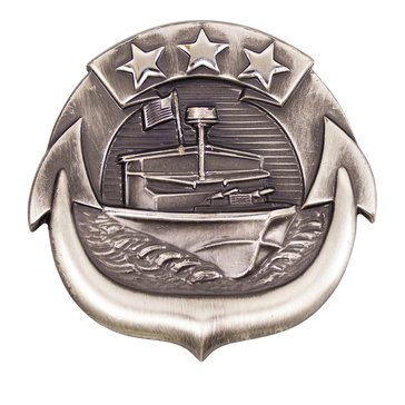 Warfare Badge Full Size SM CRAFT ENL  Oxidized  Silver