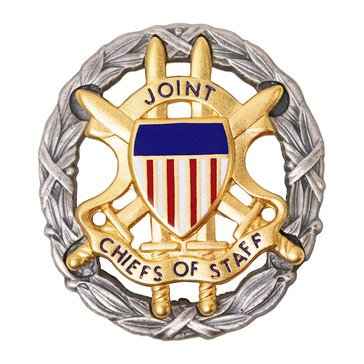 ID Badge Miniature JOINT CHIEF OF STAFF Oxidized Silver (USN)