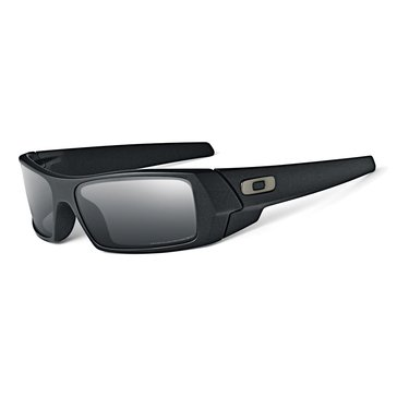Oakley Standard Issue Men's Gascan Polarized Sunglasses, Black Frames/Grey Lens