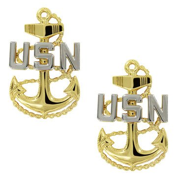 Coat Device Anchor Silver/Gold E7