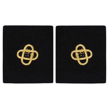 Sleeve Device in Gold on Blue for CWO Electronic Technician