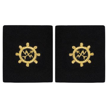 Sleeve Device in Gold on Blue for CWO Operations Technician
