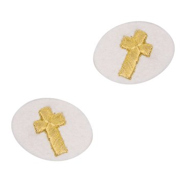 Sleeve Device in Gold on White for Chaplain Christian