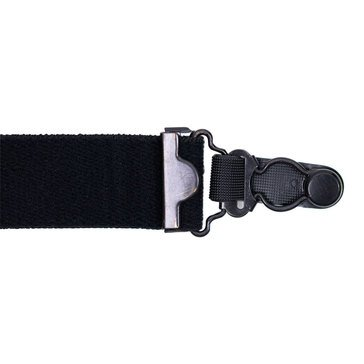 Shirt Garters Black Elastic with Metal Clips 4 Pack