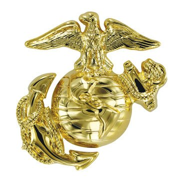 USMC Cap Device Dress Hamilton Finish Enlisted