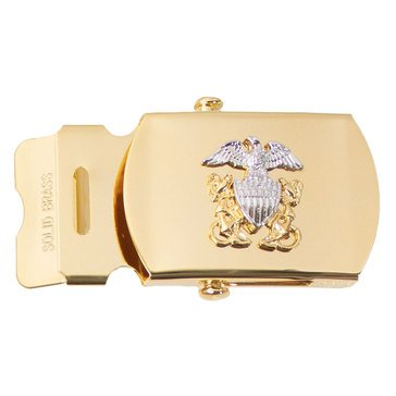 Women's Gold Buckle Shiny Officer Crest