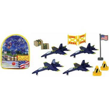 Wow Toyz F-18 Blue Angel Backpack Playset