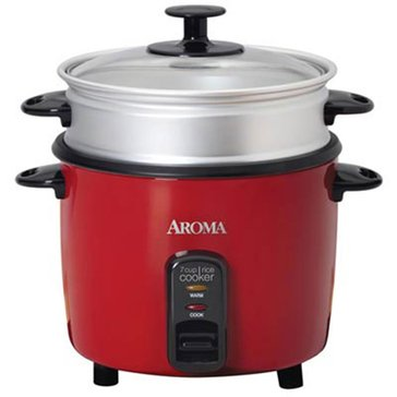 Aroma Pot-Style Rice Cooker & Food Steamer, 14-Cup (ARC-747-1NGR)