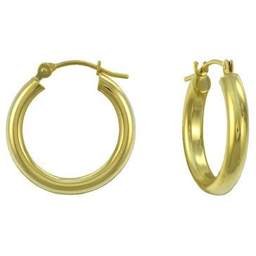 14K Yellow Gold 20X3.0 Hoop Earrings