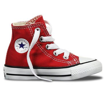 Converse Chuck Taylor All Star Hi Top Boys' Basketball Shoe Red
