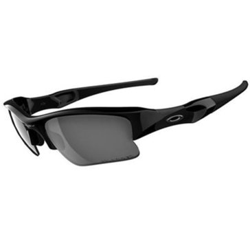 Oakley Men's Flak Jacket XLJ Jet Black/Black Iridium Polarized Sunglasses 63mm