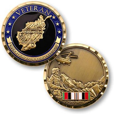 USN Operation Enduring Freedom Veteran Coin