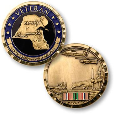 USN Opertion Desert Storm Veteran Coin