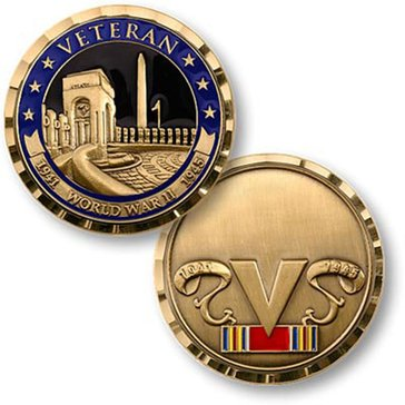 USN World War II Veteran Coin
