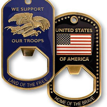 Northwest Territorial Mint USN Support Our Troops Bottle Opener