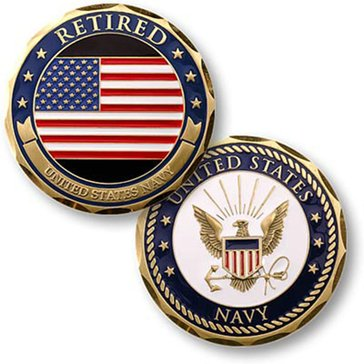 Northwest Territorial Mint USN Navy Retired Coin