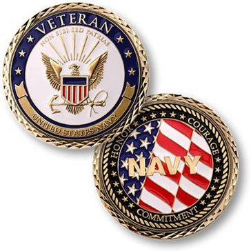 USN Navy Veteran Coin
