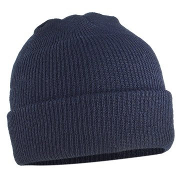 Navy Dark Blue Knit Cap