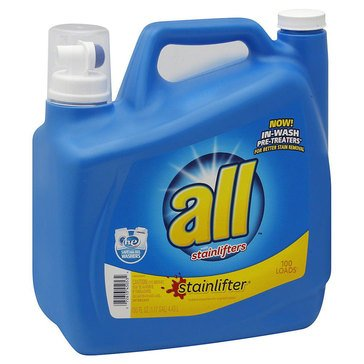 All 2x Ultra Stainlifter Liquid Laundry Detergent, 150oz