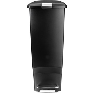 simplehuman 40 Liter Slim Black Step Can