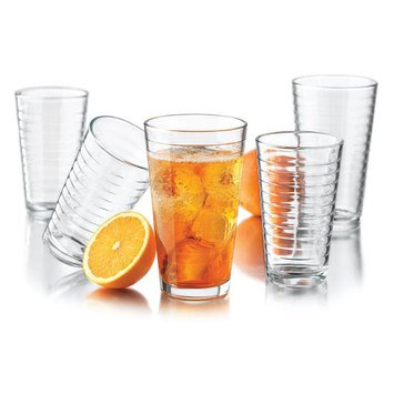 Libbey Hoops 16-Piece Beverage Set